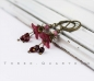 Earrings, flowers, dark red, bordeaux, pink