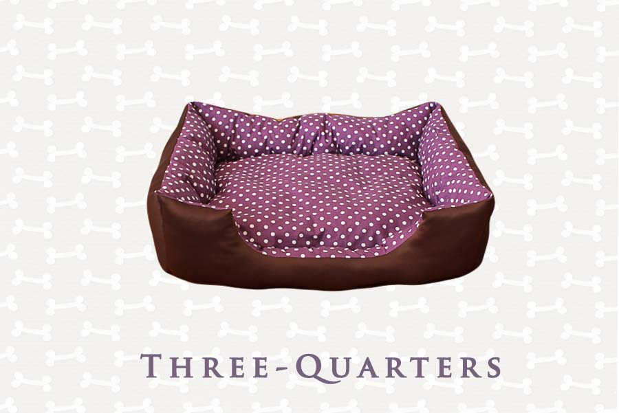 three quarters hundebett katzenbett schlafplatz lila magenta beere aubergine punkte. Black Bedroom Furniture Sets. Home Design Ideas