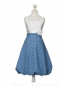 Balloon dress, Size S, dress, blue, dots, white, bridal gown